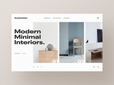 NueAesthetic Layout modern simple clean ui blog web minimal betraydan