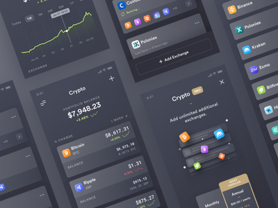 Cryptograf dark simple clean app ux ui crypto minimal betraydan
