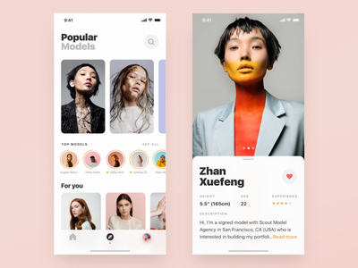 Model + Profile clean ios ux ui model minimal betraydan