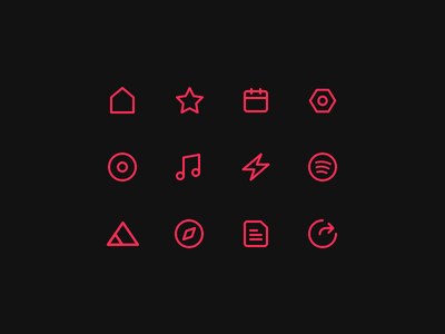 Alba Icons grid dark simple clean icons betraydan