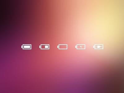 Battery glyphs