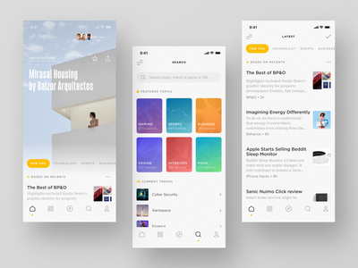 RSS Reader (Light Theme) ios mobile typography minimal app reader rss design ui betraydan