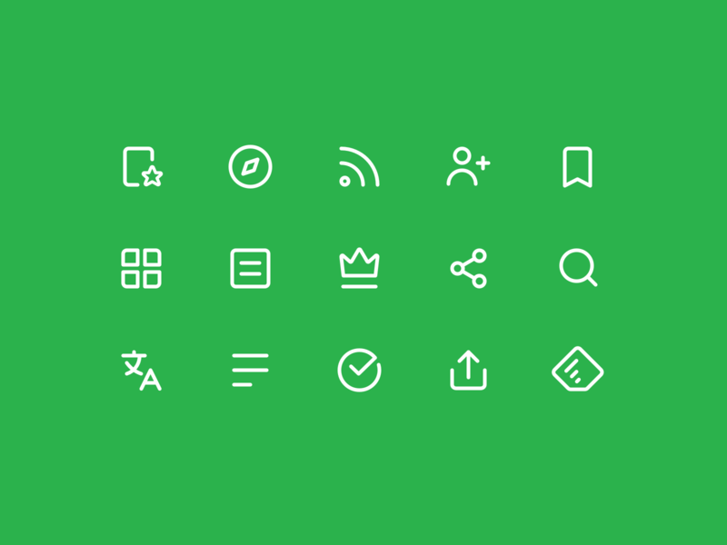 Feedly Icons app simple clean minimal line icons icon feedly betraydan