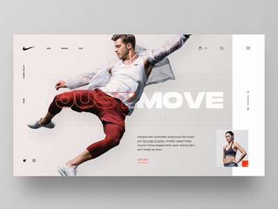 Nike Move ux design typography layout ui betraydan
