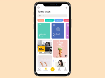 Template Remixer typography ios betraydan minimal clean mobile over icons ux ui app interaction interaction design