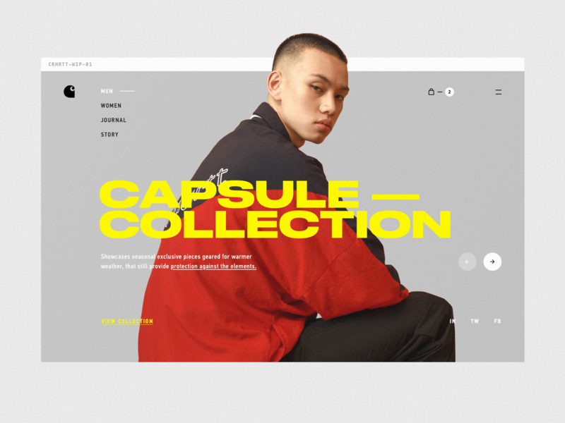 C—1 big type logo ux web design minimal clean typography ui web betraydan