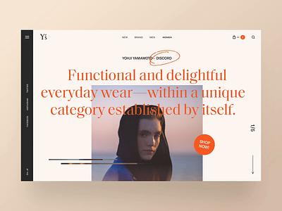 Y's — Discord ux clean minimal typography fashion designer ui interface interaction website betraydan