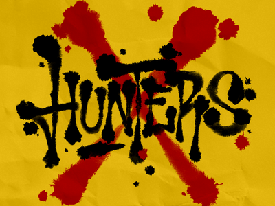 Hunters blood drips ink letters lettering amazon prime video hunters