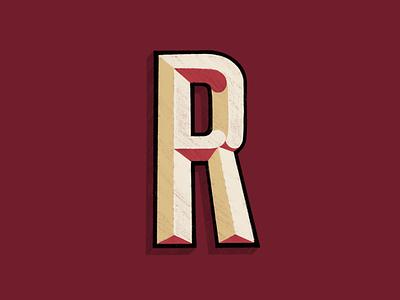 R letras r texture letter lettering