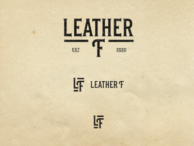 Leather F design logo leather letters letras texture lettering
