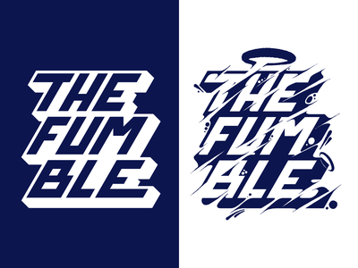 The Fumble typography vector type design texture procreate letras letters lettering
