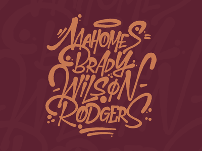 NFL Players // The Fumble nfl typography vector caligrafia texture calligraphy procreate letras letters lettering