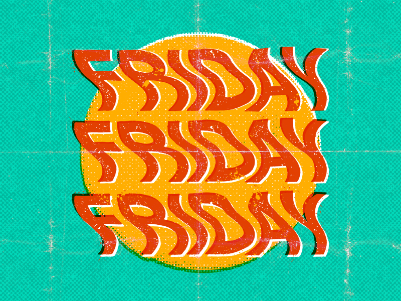 Friday vintage lettering letras letters texture procreate friday