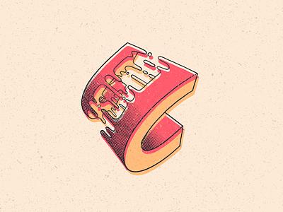 C texture type letra halftone letter lettering