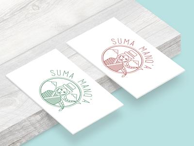 sumamanqa visitcard wood icon illustrator art vector typography minimal logo illustration design branding