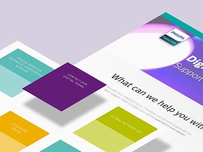 philips flat type minimal website ux ui typography logo design branding