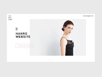 Personal Portfolio annawangler portfolio clean minimalistic