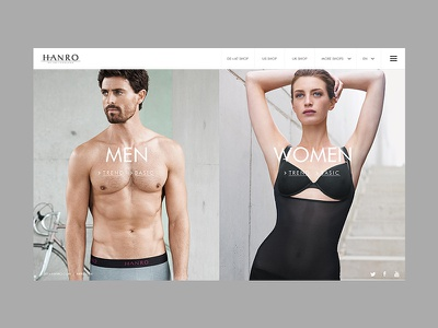 Hanro - New Collection lingerie hanro fashion web minimal clean