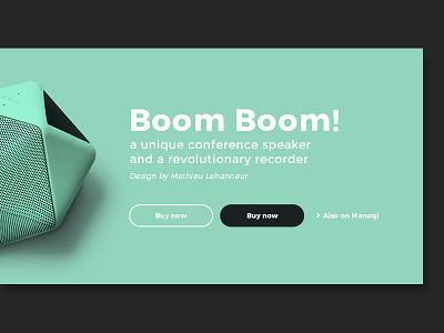 Boom Boom! Closeup boomboom theme mint closeup webdesign web minimal clean