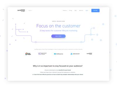 25 Tactics header button gradient purple blue pattern page website landing