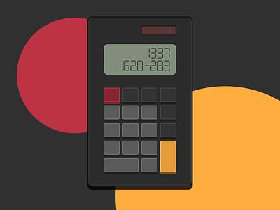 8bitesque calculator cartoon fun dark 8bit calculator 004 design ui dailyui