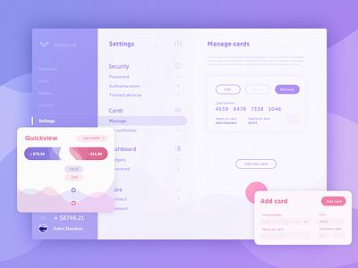 Colour exploration setting app interface design share rebound 007 ui