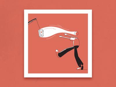 Bait fishing rod bait like addiction phone design graphic design illustration
