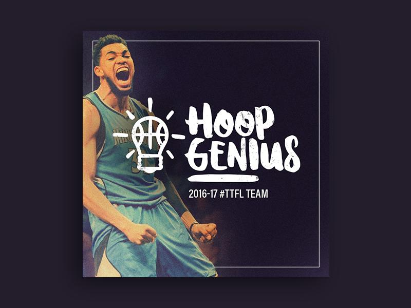 Hoop Genius fantasy league karl-anthony towns hoop genius typography logo nba fantasy kat basketball