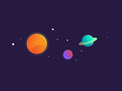 Planets. solar system sun solar gradients stars planets space