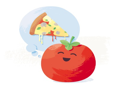 Tomato dream sticker mule mushroom cheese pizza dream tomato