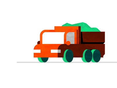 Truck. icon recycling truck illustration