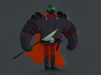 THE BLACK WARRIOR. skull medieval texture illustration warrior black