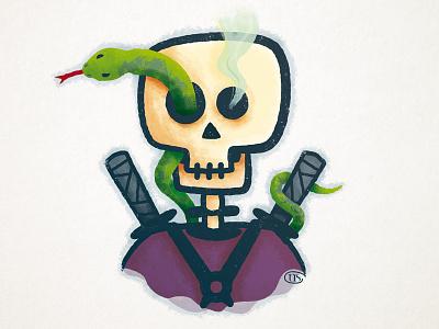Skull snake skull