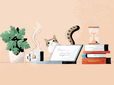 Literary blog illustration - Noveltea