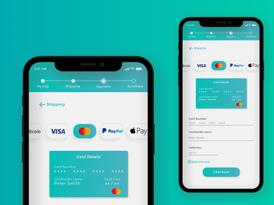 Daily 002 - Credit Card Checkout ux design user interface design uidesigns uidesign ui design mobile ui mobile design mobile app daily ui dailyui design
