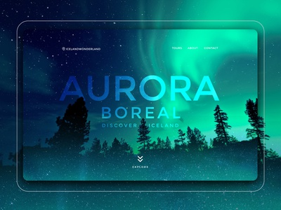 Aurora Boreal Iceland Landing Page / UI Design Aurora Borealis landing page concept website landing page design ui design website landing page ui landing design aurora borealis landing page aurora boreal landing pages landingpage dailyui ux design user interface design uidesigns uidesign mobile ui mobile app ui design mobile design design