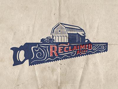 Reclaimed Allée type barn oldschool typography identity old vector custom branding retro illustration classic logo vintage
