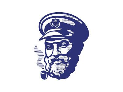 Seman Sully's Spirits smoking anchor nautical captain seaman typogaphy identity old vector custom branding retro illustration classic logo vintage