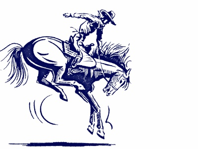 Bucking Bronco horse old school wild western bucking cowboy bronco illustrator spot illustration old custom vector retro illustration classic vintage raw inking