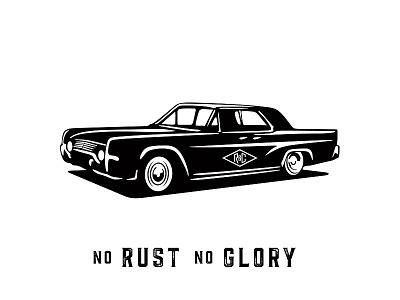 Rust & Chrome glory branding logo illustration automobile cars vintage chrome rust
