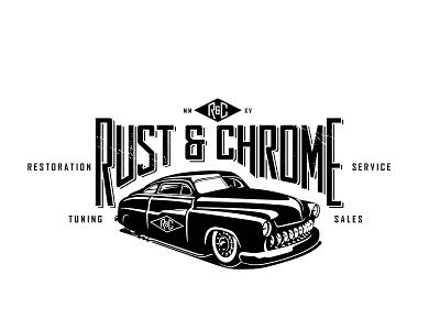 Rust & Chrome rust chrome vintage cars automobile illustration logo branding glory