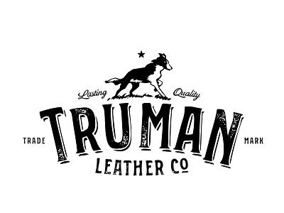 Truman Leather Co dog leather vintage logo branding