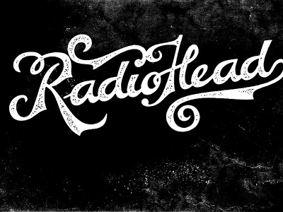 Newfont Test Drive radiohead tatoo ink style text name band classic vintage font