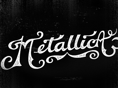 Newfont Test Drive   Metallica font vintage classic band name text style ink tatoo