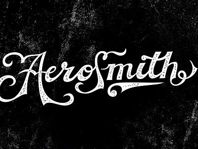 Newfont Test Drive - Aerosmith classsic vintage design font name band