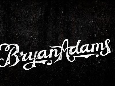 Newfont Test Drive - Bryan Adams band name font design vintage classsic