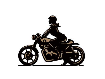 Biker Chick sale chick caferacer logo illustration vintage motorcycle girl biker