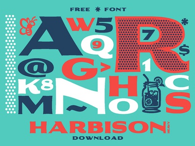 Harbison Heavy - Free Font Download