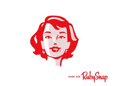 RubySnap Girl rubysnap girl snap illustration retro classic smile happy