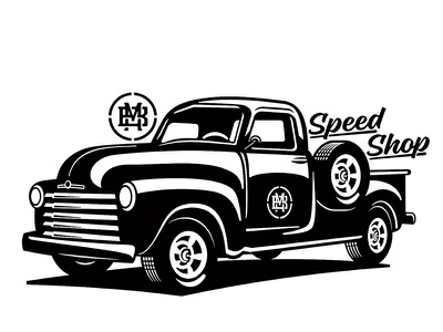 WIP for a Speed Shop school old vintage classic truck garage shop speed